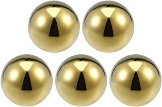 uxcell 75mm Dia 201 Stainless Steel Hollow Cap Ball Spheres for Handrail Stair Newel Post Gold Tone 5pcs