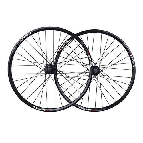 CHICTI Juego Ruedas Bicicleta 20 26 Pulgadas MTB Aleación Aluminio Llanta Doble...