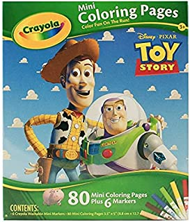 TOY STORY 80 MINI COLORING PAGES PLUS 6 MARKERS