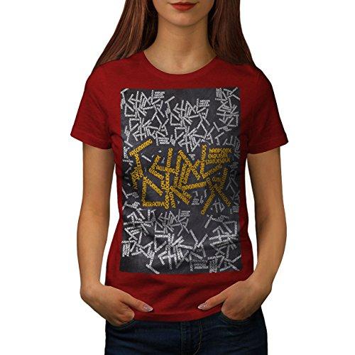 wellcoda Schön Synonyme Slogan Frau T-Shirt Cool Lässiges Design Bedrucktes T-Shirt