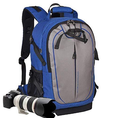 WHSS Mochila para exteriores impermeable de viaje, para cámara réflex digital, para hombre y mujer, antirrobo, de gran capacidad, tamaño 31 x 17,5 x 46,5 cm, color azul