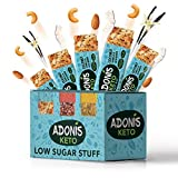 Adonis Low Sugar Nut Bar - Barritas de Coco Crujiente Sabor a Vainillia | 100% Natural, Ba...