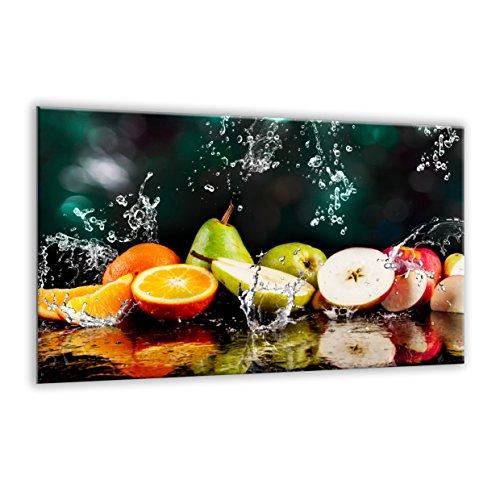 Piastra di copertura in vetro temperato 80x 52cm | grande tagliere | Kitchen Wall splash-back | Schermo per stufa elettrica in ceramica a induzione | Fruit Splash 126510526| by semUp