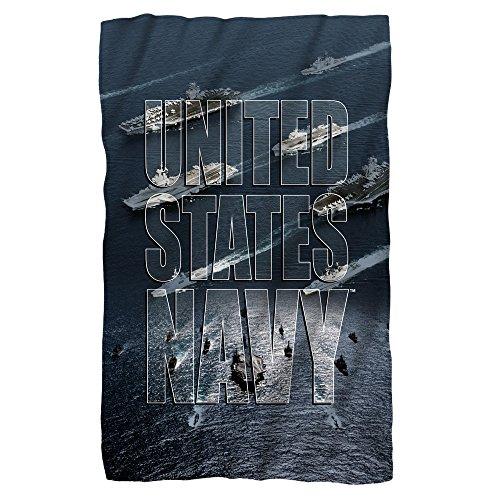 """U.S. Navy Fleet Fleece Throw Blanket (36""""x58"""")"""