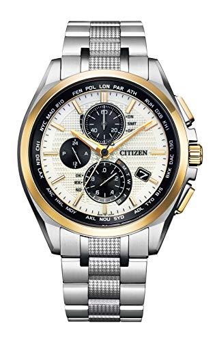 [Citizen] 腕時計 アテッサ ア世界限定700本 エコ・ドライブ電波時計 ダイレクトフライト ACT Line AT8048-55A メンズ シルバー
