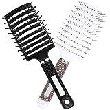 2PCS Cepillos para el cabello, mejor en desenredar cabello grueso, ventilado para un secado más rápido, para cabello largo, grueso, rizado y enredado