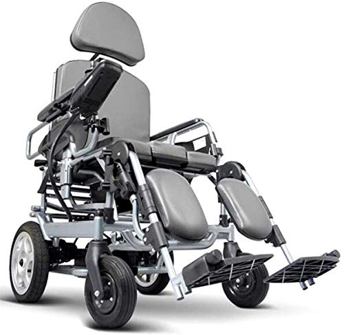 WXDP Self-propelled Lightweight Foldable Power Electric With Potty,tray Table,headrest Folding Portable Powerchair,aluminum Alloy Travel,drive With Electric Power Or Use