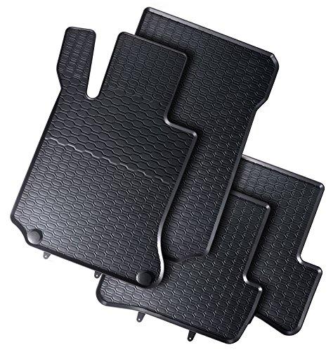 AME Gummimatten Premium Qualität Fußmatten Gummi schwarz 4-teilig