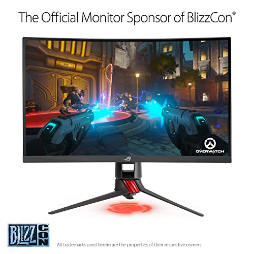 "ASUS ROG Strix 27"" Curved Gaming Monitor Full HD 1080p 144Hz DP HDMI DVI Fully Adjustable Function w/ Industry leading 3 years warranty (XG27VQ)"