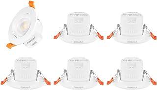Lamparas de Techo Foco Empotradas LED 5W Regulables Orientables Pequeños 5W Reemplazo Empotrables de GU10 Color de Luz Ajustable Agujero Diámetro 65-80MM Lot de 6 de Enuotek