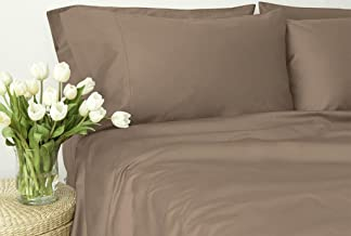 Egyptian Cotton 800 Thread Count, Laura Hill Collection, Queen 4-Piece Sheet Set, 2-LHH-179, Taupe Solid