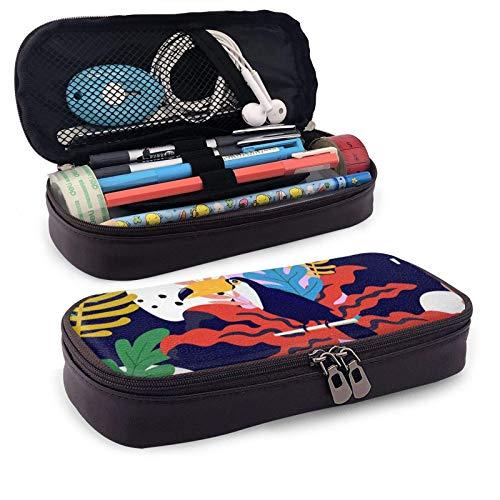 Estuche para lápices Colores Organizador de papelería de gran capacidad Almacenamiento Bolsa de maquillaje Estuche Porta caja con cremallera