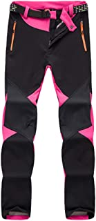 LaoZan Softshell Pantalones de Senderismo Impermeables