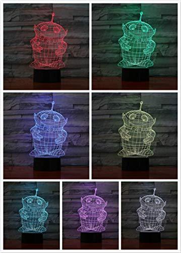 Teletubbies Nachtlicht LED Dekor 3D Illusion Berührungssensor Kind Kinder Geschenk Baby Nachtlicht Cartoon Tischlampe Schlafzimmer Dekoration
