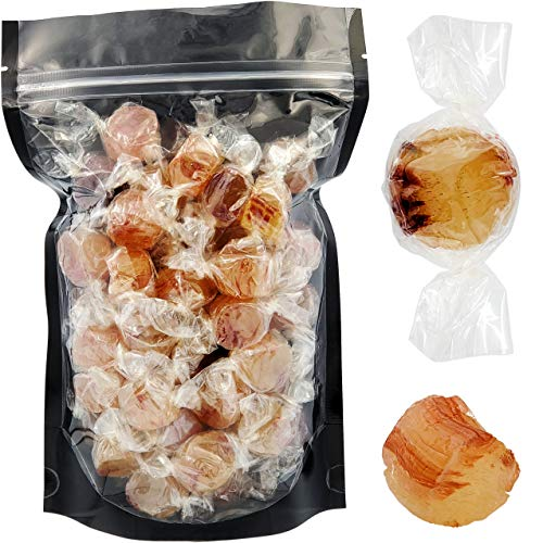 Ginger Cuts Round Hard Candy, Individually Wrapped (1 Pound (Approx 60 Pieces))