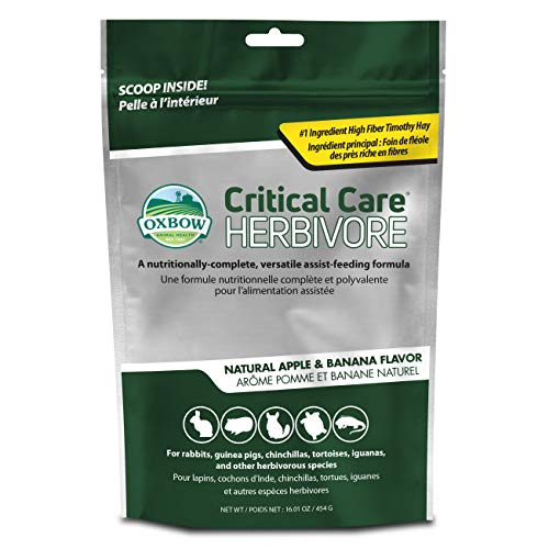 Oxbow Animal Health Critical Care, Herbivore, Apple-Banana Flavor, 454 Gram Bag