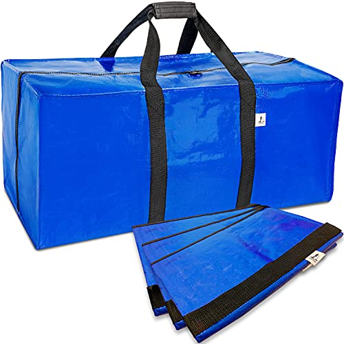 Extra Large Storage Bag for Moving - 4 Pack Water Resistant Heavy...