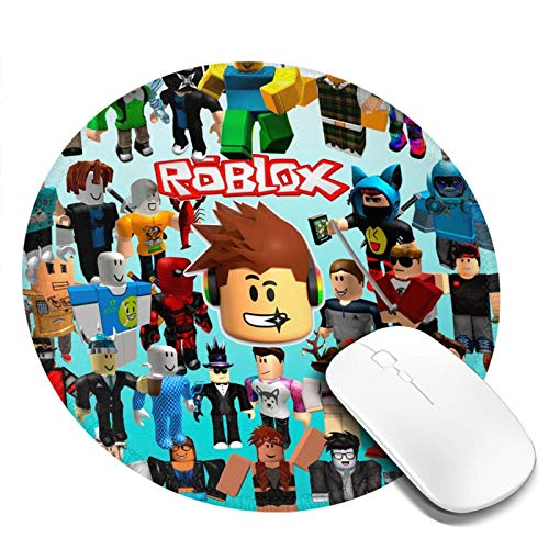 Ro-blox Mouse Pad Non-Slip Rubber Comfortable Computer Gaming Mousepad 7.9x7.9in,Round Mouse Mat for Kids Teens Adults