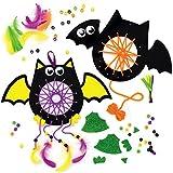Baker Ross AX191 Kit Atrapasueños Murciélago - Paquete De 4, Manualidades De Halloween Para Niños...