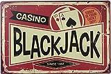 +Urbano Casino Black Jack Vintage Retro Blechschild Home