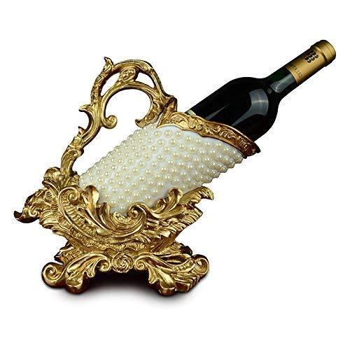 CESULIS Europea botella de vino titular decoración creativa decoración del hogar adornos artesanías restaurante hogar vino vino muebles boda grano vino estante exhibición vino