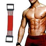 Винлине подесиви експандер за груди - експандер за груди - вежбач мишића - КСНУМКС жице са заштитним омотом (црвене)