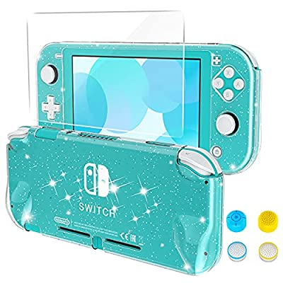 HEYSTOP Funda Nintendo Switch Lite, Carcasa Protectora para Nintendo Switch Lite con Protector de Pantalla para Nintendo Switch Lite Console y Joy Cons con 4 Agarres para el Pulgar, Crystal Glitter