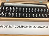 Professionelle Ringmaß Stick und Instrumente in Holzbox Qualität Metall Konstruktion Schnell P & P