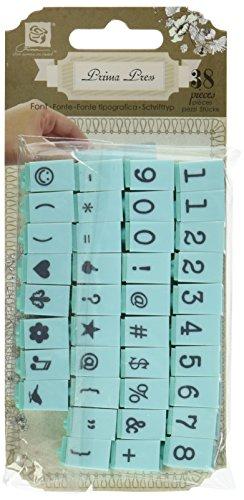 Prima Marketing Prima Press Alphabet Stamp Set, 0.25-Inch, Characters No.4