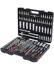"""Ks Tools 917.0779 1/4"""" + 3/8"""" + 1/2"""" Zestaw Kluczy Nasadowych 179-Częściowy Standardowe 1/4, 3/8, 1/2 Zoll Czarny/Szary/Czerwony"""