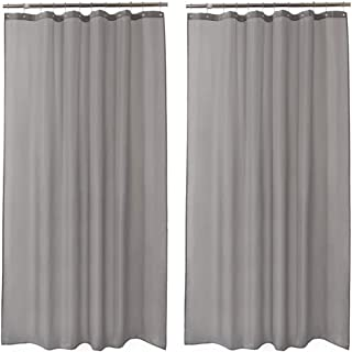 Amazer 2 Pack Shower Curtains, Gray Polyester Fabric Shower Curtain Liner Hotel Quality Bathroom Shower Curtains Water-Repellent -72