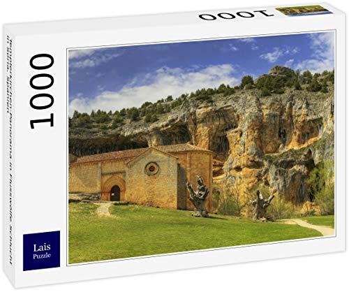 Lais Puzzle Panorama de la Iglesia templaria en el desfiladero de los Lobos de río en Soria, España 1000 Piezas