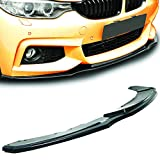 GT-Speed - MT Style PU Front Bumper Lip - Compatible With 2014-2020 BMW F32/F33/F36 4-Series M-Sport Bumper Only (Not Compatible With Standard/M3/M4 Bumper)