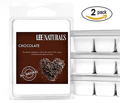 Lee Naturals Classics - (2 Pack) CHOCOLATE Premium All Natural 6-Piece Soy Wax Melts. Hand Poured Naturally Strong Scented Soy Wax Cubes