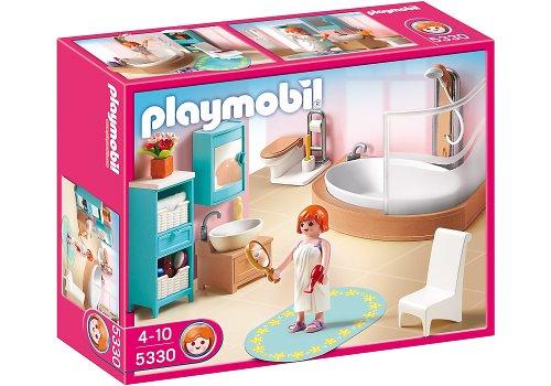 Playmobil - 5330 - Jeu de construction - Salle de bains avec baignoire et pare-douche