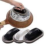Shehan3 unids hogar con mango nano diamante esmeril esponja cocina pote cepillo baño magia descontaminación cepillo de limpieza cepillo plato