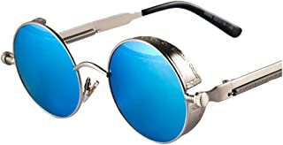 Arctic Star Steampunk Retro Round Frame Screws Spring Legs Inventor Sunglasses