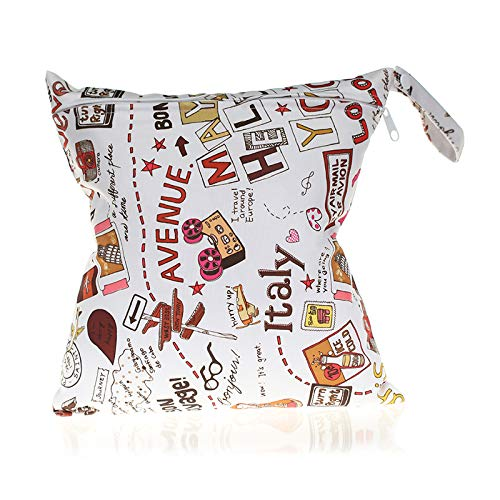 Sac à couches lavable imperméable à l'eau de la série numérique à capuche Sac momie sac à langer 28 * 30cm (CH-D03-11)