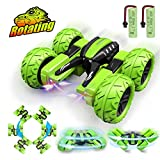 Pussan Birthday Gifts for 6-10 Year Old Boys Girls Remote Control Car for Kids RC Stunt Cars Trucks RC Crawler Off Road 360 Degree Rotation 4WD Night Spin Car Summer Beach Toys for Children
