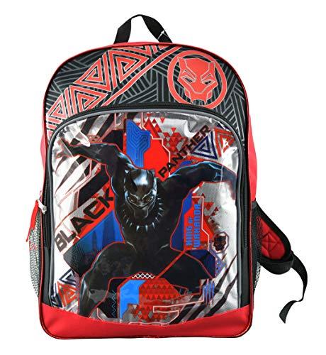 Karacter Corner Marvel Black Panther King of Wakanda 16' Backpack, Large Front Zipper Pocket w/ 2 Mesh Side Pockets