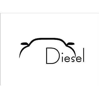isee360 Vinyl Car Diesel Windows, Sides, Hood, Bumper Car Sticker(Black)