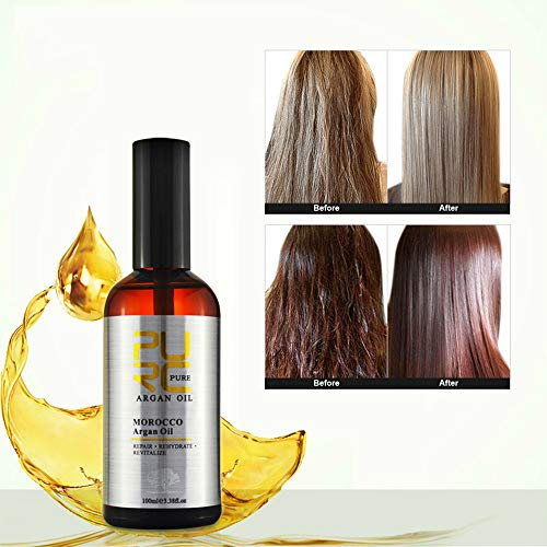 PURC Tea Tree Hair Oil Hair Treatment for Dry and Damaged Hair Natural Coconut Oil Tea Tree Hair Oil Hair Treatment 10ml-100ml (1PCS 100ML Argan Oil)