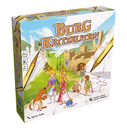 Asmodee Blue Orange BLOD0015 - Burg Kritzelstein, Kinder-Spiel, Deutsch