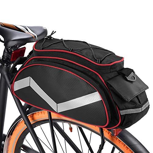 Lixada Fahrrad Gepäckträgertasche 13L Multifunktion Isolierte Stammkühltasche Fahrradtasche Gepäckträger Umhängetasche Handtasche …