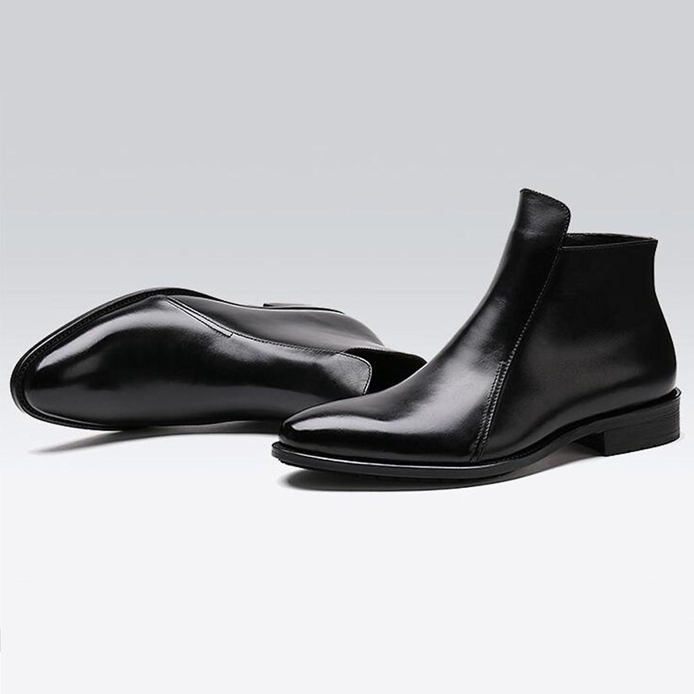 SUN Mnner Kurze Lederstiefel Britischer Stil Martin Stiefel Knchel Lssige Stiefel Herbst Und Winter (Farbe   2, gre   EU40 UK7 CN41)