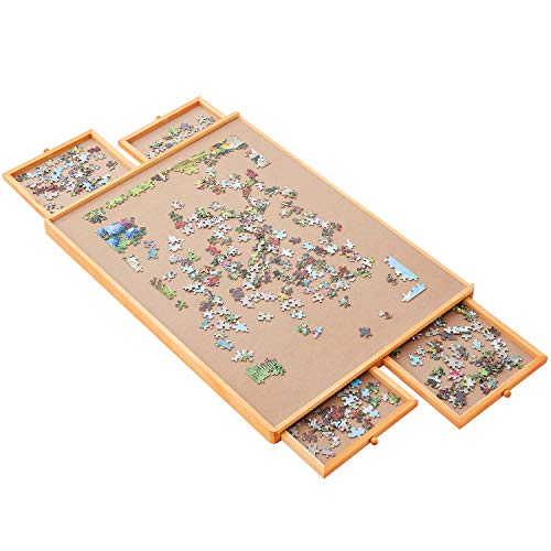 Standard Size: 29'×21', Puzzle Board, Puzzle Table, Puzzle Tables for Adults, Puzzle Boards and Storage, Jigsaw Puzzle Table, Puzzle Tray, Weight: 8.8 LBS (4 KGS)