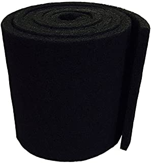 Aquatic Experts Classic Koi Pond Filter Pad COARSE - 12 Inches by 12 Feet by 3/4 inch to 1 Inch – Black Bulk Roll Pond Filter Media, Rigid Ultra-Durable Latex Coated Fish Pond Filter Material USA