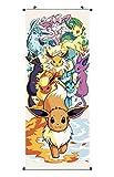 Großes Pokemon Rollbild / Kakemono aus Stoff | Poster