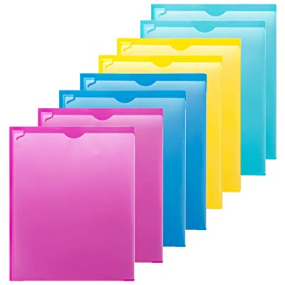 MAKHISTORY Plastic 2 Pocket Folders with Clear ...