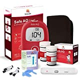 sinocare Medidor de glucosa en sangre/Glucosa en sangre kit de control de la diabetes kit con Codefree tiras x 50 y caja para diabéticos - en mg/dL (Safe AQ Smart)